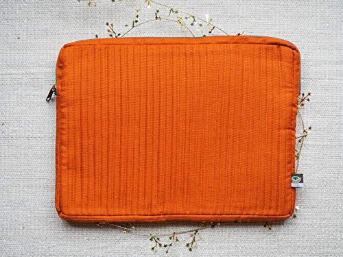 Laptop Case 13 inch MacBook Pro// Orange // Fair Trade // Computer Sleeve // Macbook Bag // Travel Work