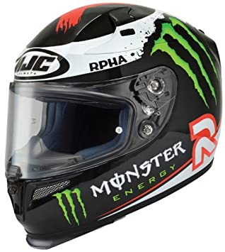 HJC Rpha-10 Jorge Full-Face calle casco (Lorenzo Replica Monster Energy,