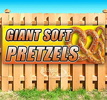 Store New Flag, Many Sizes Available Advertising Pretzels 13 oz Heavy Duty Vinyl Banner Sign with Metal Grommets