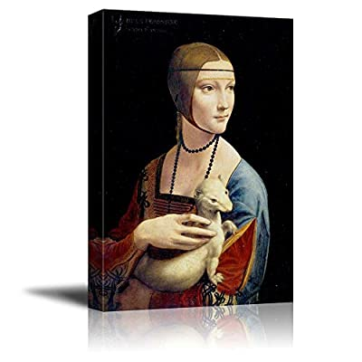 Lady with an Ermine by Leonardo da Vinci Print Famous Oil Painting Reproduction, Made With Top Quality, Delightful Style