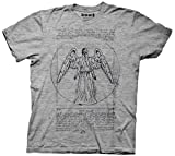 Doctor Who Weeping Angel T-Shirt (H. Grey, XX-Large)
