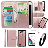 Case for G G4, xhorizon TM FLK Premium Leather Folio Wallet Magnetic Detachable Removable Wristlet Purse Card Slots Cover for LG G4 with Wristband USB Cable&9HTempered Glass Film