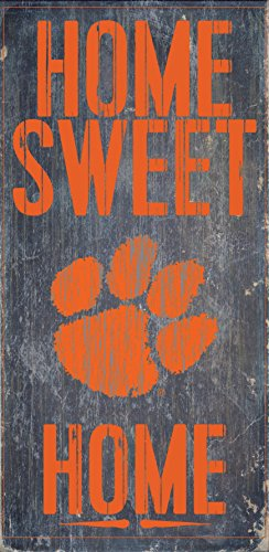 Fan Creations Clemson Tigers Wood Sign - Home Sweet Home - Sign Clemson Wood