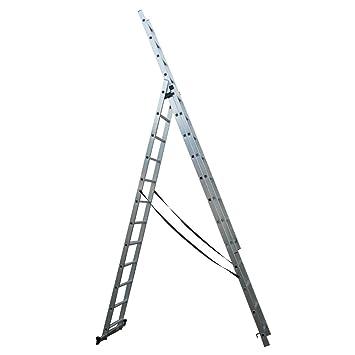 Trendig Alu Mehrzweckleiter 3x12 Sprossen Leiter Anlegeleiter Aluleiter  SI42