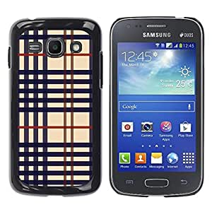 Exotic-Star ( Cloth texture ) Fundas Cover Cubre Hard Case Cover para Samsung Galaxy Ace 3 III / GT-S7270 / GT-S7275 / GT-S7272