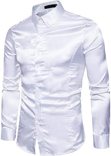 Camisas De Manga Larga para Hombres Camisa De Hombres Fiesta para Único Camisa Moderna De Ocio Casual Caballero Calzado Ajustado Clásico Anfitrión Deslumbrante Encantador Mostrar Camisas Informales: Amazon.es: Ropa y accesorios