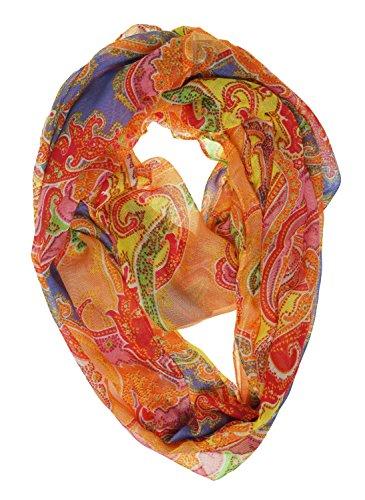 LAUREN by Ralph Lauren Womens Cella Infinity Loop Scarf Orange One (Scarf Ralph Lauren Women)