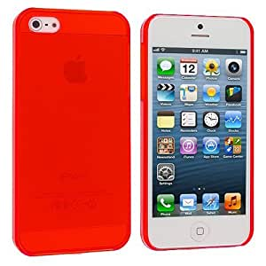 Accessory Planet(TM) Red Crystal Hard Snap-On Rear Case Cover for Apple iPhone 5 / 5S
