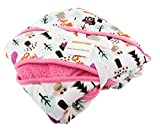 Universal Baby Stroller Blanket by Muzitao - Fits in Shoulder Straps & Buckles - Baby Stays Wrapped In-and-Out of the Stroller (Pink)