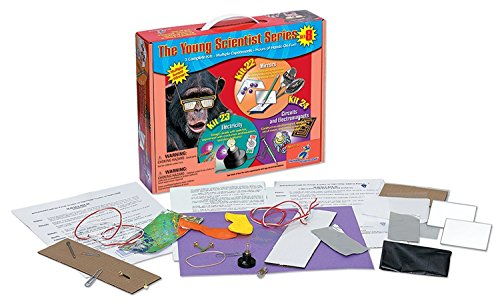 SET 8 - Mirrors, Electricity, Circuits and Electromagnets by Young Science Club! For Ages 5+ (Set Science Electromagnet)