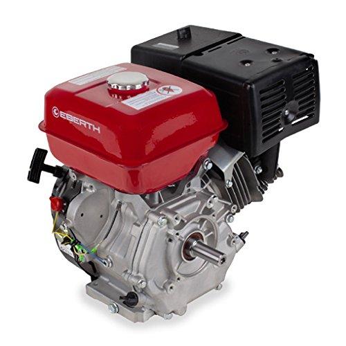 EBERTH 13 PS Benzin Antriebsmotor (25mm Welle, 1 Zylinder, 4 Takt Motor, Seilzugstart) rot