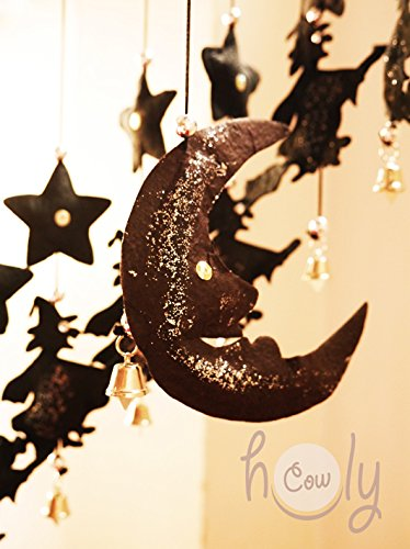 Handmade Black Moon And Witches Hanging Mobile