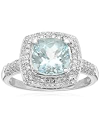 14k Rose Gold Cushion and Diamond Halo Ring (3/8 cttw H-I Color, I1-I2 Clarity), Size 7