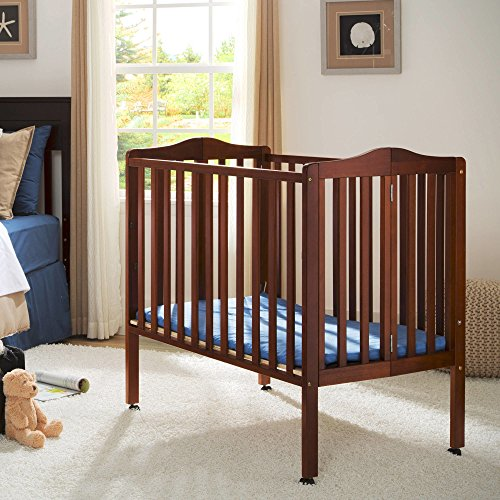 Paisley Taupe Collar (Cherry Solid Hardwood Gorgeous Finish Adjustable Baby Crib)