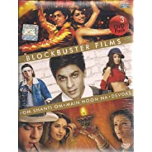 Blockbuster Films ( Om Shanti Om, Main Hoon Na & Devdas) 3 Dvd Set