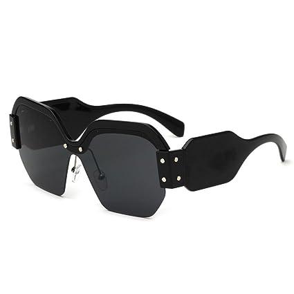 BiuTeFang Gafas de Sol Mujer Hombre Polarizadas Moda Europea Marca Gafas de Sol los Hombres Mitad