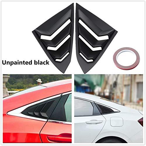 (Pair Car Rear Quarter Panel Side Vent Window Louver Cover For Honda/Civic 4Door 2016-2017)