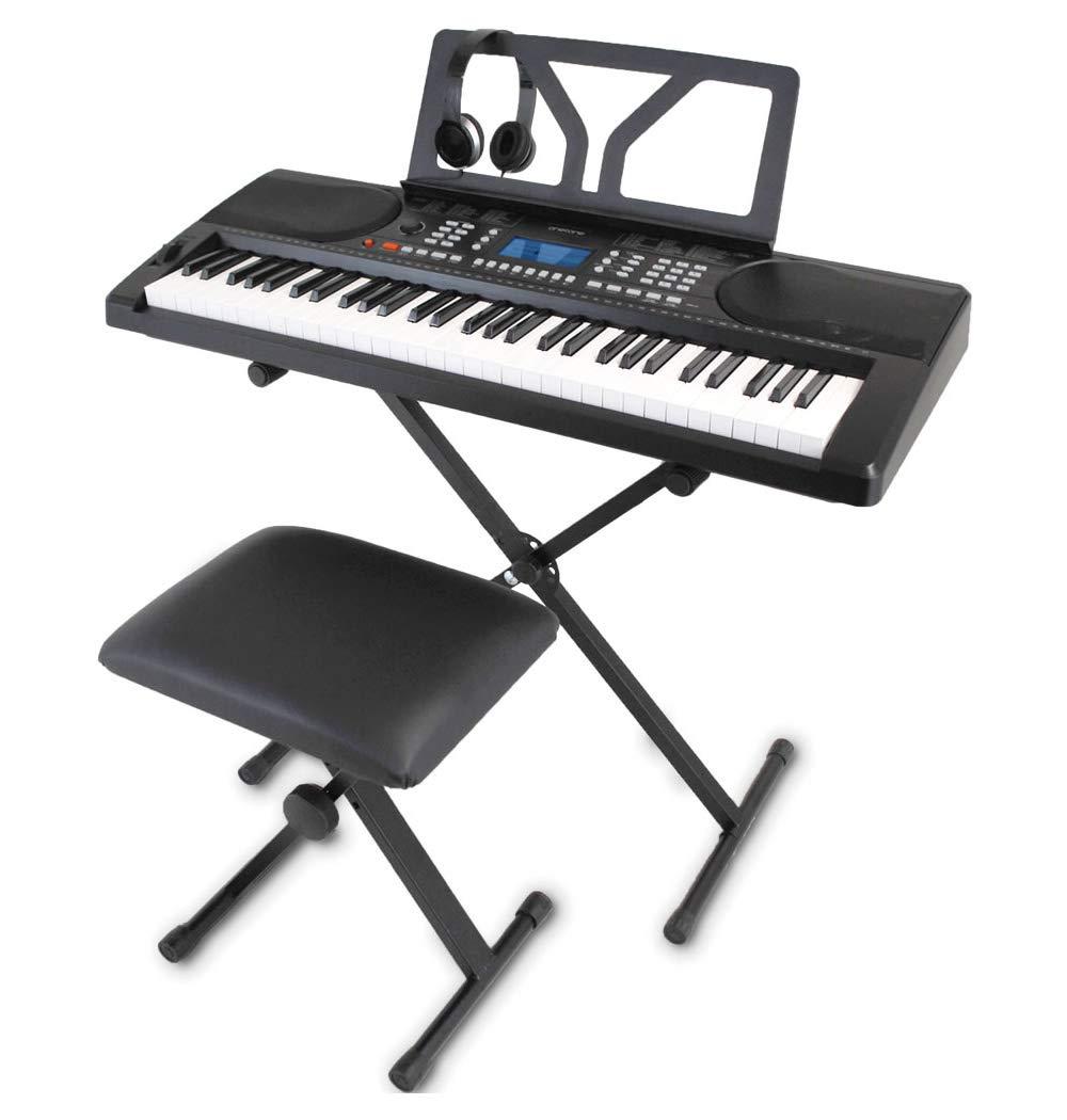 【お年玉セール特価】 ONETONE 61鍵盤 ワントーン 電子キーボード ONETONE 61鍵盤 初心者セット ピッチベンド搭載 日本語表記 OTK-61S (譜面立て 日本語表記/電源アダプター/スタンド/椅子/ヘッドフォン付き)B07HGK854H, 紀州梅のJA紀南:02e7deaf --- a0267596.xsph.ru