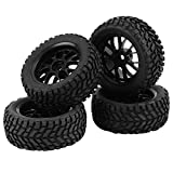 RC Car Tire, 4 Pcs/Set Racing Off-Road Car Tires Rubber Tyre Wheel Rim for 1:10 Vehicle Accessory Part