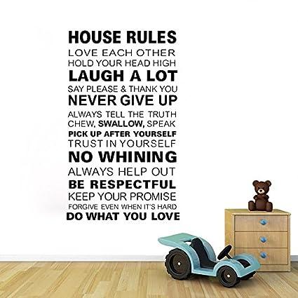 Amazoncom Motivational House Rules English Words Wall Sticker