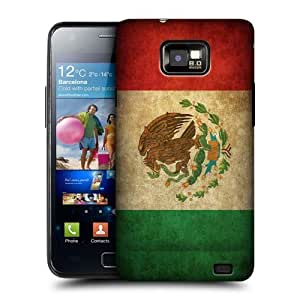 AIYAYA Samsung Case Designs Mexico Mexican Vintage Flags Protective Snap-on Hard Back Case Cover for Samsung Galaxy S2 II I9100