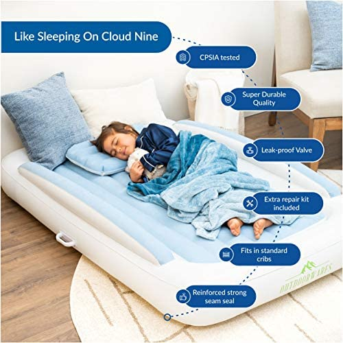 Amazon.com: Fabuware INFLATALBE - Cama infantil, color azul ...
