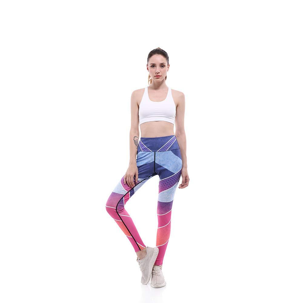 GYXYYF Sport Yoga Hosen Digitaldruck Atmungsaktiv Neun Punkte Sport Yoga Hosen