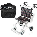 【非課税】 Nice Way 軽量 折りたたみ式 車椅子 NW-9001L【座面幅約40cm】【コンパクト】【介助ブレーキ付き】【アルミ製】【ノーパンクタイヤ】