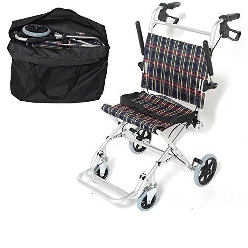【非課税】 Nice Way 軽量 折りたたみ式 車椅子 NW-9001L【座面幅約40cm】【コンパクト】【介助ブレーキ付き】【アルミ製】【ノーパンクタイヤ】   B00LJXL7M2