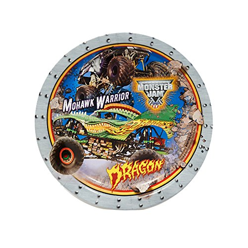 BirthdayExpress Monster Jam Party Supplies - Dessert Plates