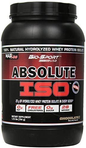 Bio-Sport USA Absolute ISO, Natural Hydrolyzed Whey Protein ...