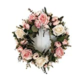 WALLER PAA 32cm Door hanging wall Window decoration Wreath Rose Peony Flower Gift For Party