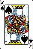 1/2 Sheet - Casino Poker King of Spades Birthday - Cake Photo Frame - Edible Cake/Cupcake Party Topper!!!