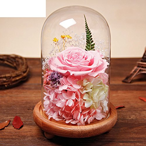 Eternal flowers,Immortal flowers never withered roses to girlfriend family friend for valentine's day wedding mother's day graduation birthday gift-D