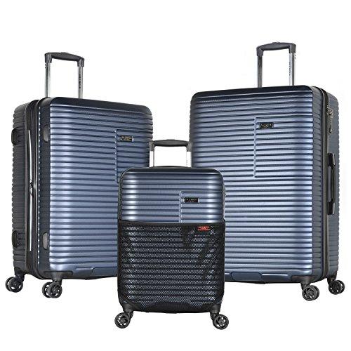 Olympia Taurus 3 Piece Luggage Set 21/25/29 Inch, Navy