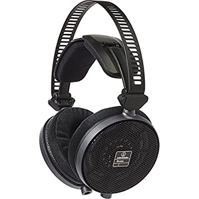 Audio-Technica R70X Professional Open-Back Reference Headphones + FiiO A3 Amplifier & Straight Stereo Cable Bundle (Black) from audio-technica