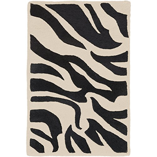(Surya Goa G-59 Contemporary Hand Tufted 100% New Zealand Wool Ivory 2' x 3' Animal Accent Rug)