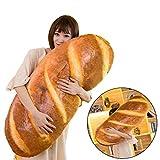 "Funny 3D Simulation Bread Shape Pillow Soft Lumbar Back Cushion Plush Novelty Stuffed Toy 80CM/31.49"""