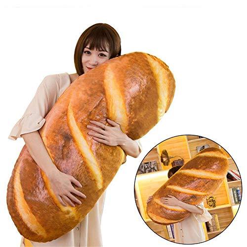 (Funny 3D Simulation Bread Shape Pillow Soft Lumbar Back Cushion Plush Novelty Stuffed Toy 80CM/31.49