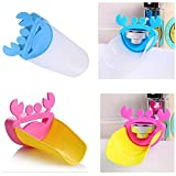 Kids Cartoon Bathroom Sink Faucet Extender Sink Handle Extender for Babies, Toddlers, Kid and Children, Make them Love hand-washing (2-Set)