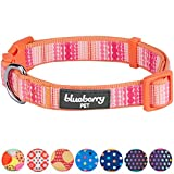Blueberry Pet 13 Patterns Modern Trend Multicolor Beads Dog Collar, Small, Neck 12''-16'', Adjustable Collars for Dogs