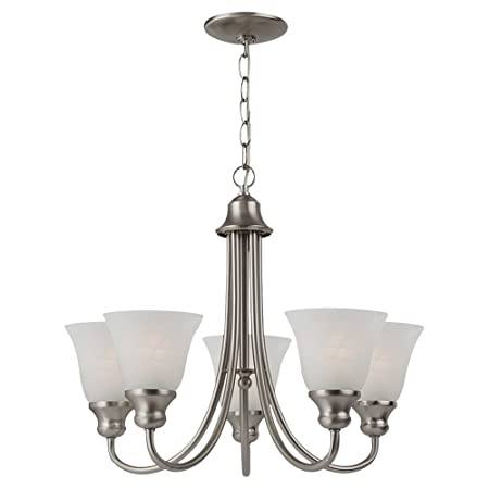 Sea Gull Lighting 35940-962 Windgate Five Light Chandelier, Brushed Nickel Finish