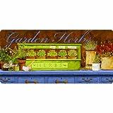 Apache Mills Cushion Comfort Garden Herbs Kitchen Mat, 20-Inch by 42-Inch
