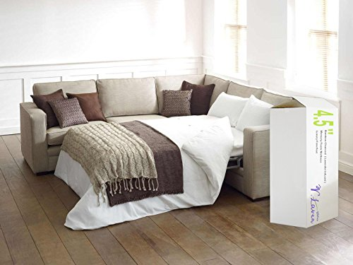 VLAVEN LAT160045F Memory Foam Sleeper Sofa Bed Mattress, 4.5