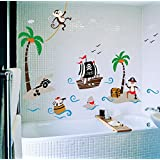 circo pirate wall decal circo pirate shower curtain home amp kitchen 10607