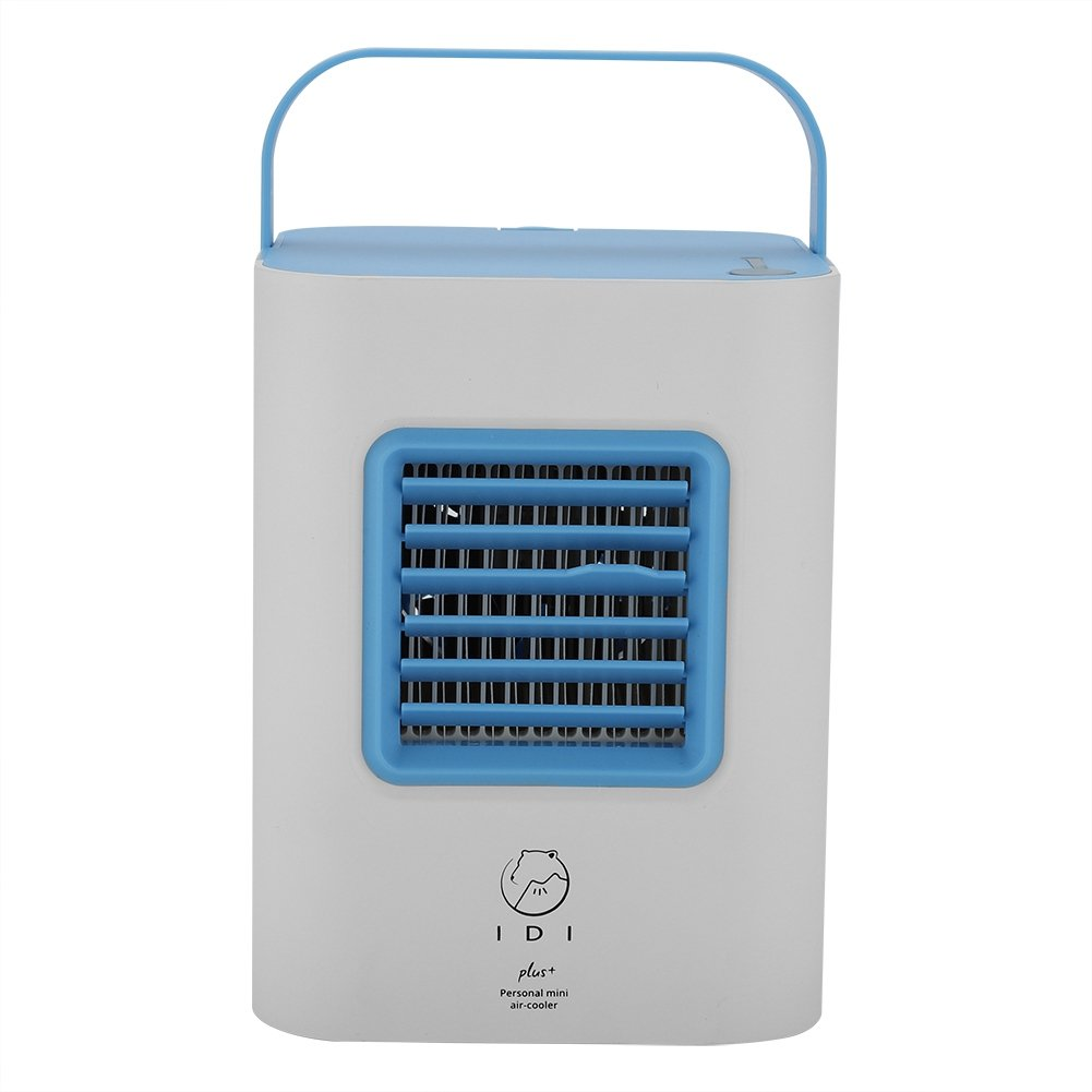 Garosa Air Cooler Personal Portable Mini USB Air Conditioner Fan Desktop Evaporative Space Air Circulator Cooler Misting Humidifier Purifier for Home Room Office Outdoor(Blue)