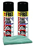 Permatex No Touch Tire Care Bundle with Microfiber Cloth (3 Items)