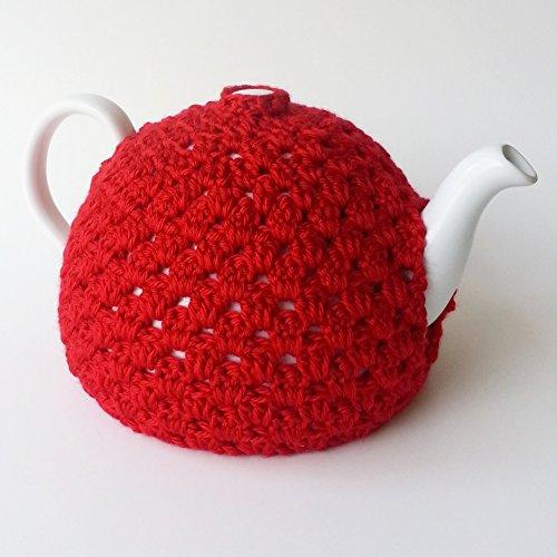 Red Crochet Tea Pot Cozy