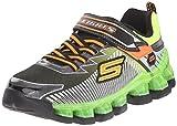 Skechers Kids Flashpod - Scoria Sneaker,Black/Lime, 12 Little Kid M