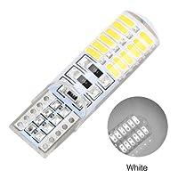 Niome 1Pcs T10 w5w 24SMD Car LED Bulbs Canbus Auto Interior Silica Lamp Turn Signal Light Side Marker White